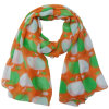 Lady Fashion Polyester Voile Apple Printed Scarf (YKY4215)