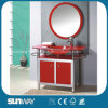 Modern Tempered Glass Basin Vanity with Certificate