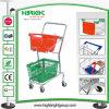 Double Basket 2-Tier Shopping Cart