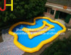 Portable Inflatable Curved Swimming Pool for Amusement Park