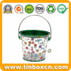 Customized Transparent PVC Metal Bucket Tin for Cookies Food Packaging