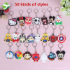 Promotional 50 Kinds of Style Cartoon Key Ring PVC Key Chain