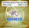 1.56 Photochromic Brown Flat-Top Hmc Optical Lens