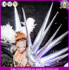 Crazy Inflatable Silver Performance Costume Star for Stage Party Club Decoration