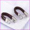 Leather Belt Chain Lock Design Cufflink