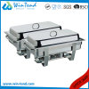 Hot Sale Electrolytic Stainless Steel Economic Buffet 633 Chafing Dish with Fuel Holder