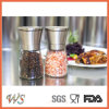 Ws-Pgs002 Twinzee Salt & Pepper Mill Pair with Adjustable Coarseness and Stunning Glass Body -Brushed Stainless Steel Salt Grinder