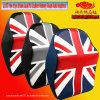 2017 New Style Union Jack PU Leather Memory Foam Auto Headrest