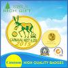 Custom Round Shape Fine Fashion Gold Casting Badge