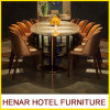 High End Furniture Marble Dining Table Sets and Banquet Chairs for Restaurant
