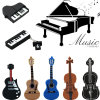 Musical Instruments Model USB Flash Violin/Piano/Guitar Pen Drive