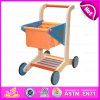 2015 Newest Wooden Walker Trolley Toy, Multifunctional Trailer Wooden Children Walker Toy, Wooden Baby Walker Shopping Toy W16e016
