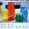 Beautiful Colored Glass Jar with Clip Cap