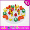 2015 New Wooden Toy Birthday Cake for Kids, Pretend Wooden Cake Toy for Children, Role Play Toy Cutting Cake Toy for Baby W10b104