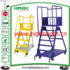 Supermarket Collapsible Metal Step Ladder Dolly Cart