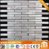 Mosaics Manufacturer, Aluminum and Silver Color Glass Mosaic (M855103)