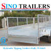 Customized Double Axle Cage Trailer with Tipping System