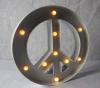 Waterproof Shopfront Logo Retro Bulb Metal Letters Sign