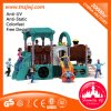 Car House Train Plastic Slide Outdoor Playground