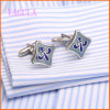 VAGULA Square Rhodium Painting Wedding Cufflink for Men
