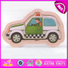 2015 Kids Learning Toy Cartoon Wooden Jigsaw Puzzle, Police Car Wooden Puzzle Toy, Children Educational Puzzle Cartoon Toy W14c179