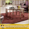 2015 Most Popular Golden Stainless Steel Round Coffee Table