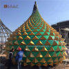 Hyperbolic Shape Aluminum Curtain Wall, Stand-up Triangle Aluminum Panel, Curved Aluminum Panel