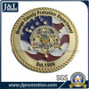 Die Struck Bronze Shiny Gold Plating Coin