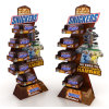 Supermarket Promotion Snickers Paper Display Cardboard Display