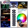 RGB Mini LED Rock Light Kit with Bluetooth Controller for Jeep Offroad Truck Motorcycle Boat