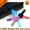 Colors Key Shaped Metal USB Flash Disk for Car Gift (YT-3213)