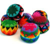 Customized Promotional Gift Kick Hacky Sack Knitted Crochet Footbag Ball
