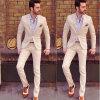 Bespoke Wool Navy Blue Tuxedo Men′s Coat Pant Suit