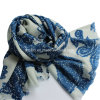 100% Worsted Wool Printed Stole Shawl (AHY30004115)
