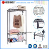 Light Duty 3 Tiers Movable Epoxy Metal Wardrobe