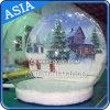 Christmas Snow Globe for Taking Photos, Inflatable Bottom Snow Globe