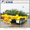Cimc Top Skeletal Terminal Chassis/ Bomb Cart Trailer for Containers Transport