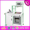 New Design Luxurious White Wooden Boys Play Kitchen for Kids W10c279