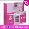 New Style Big Size Lovely Pink Girls Toys Wooden Girls Play Kitchen W10c276