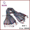 Colourful Stripes Mesh Jacquard Scarf (B16-1)