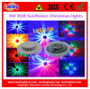 8W RGB Sunflower Christmas Party LED Lights with Gift Box