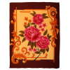Big Flowers Flat Bed Printing Fleece Blanket