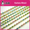Wholesale Soldering Ss12 3mm Rhinestone Cup Chain with Multi Color Ab