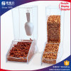 Chinese Factory Clear Acrylic Candy Dispenser with Spoon