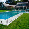 Stainless Steel Hardware Tempered Glass Swimming Pool Fence Factory Price Glass Railing