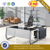 Glass Top Exeuctive Office Desk MFC Office Furniture (NS-ND134)