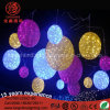 220V Hanging LED Large Colorful Globe Acrylic Ball Light for Shopping Mall Decoration