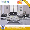 Modern Europe Design Steel Metal Leather Waiting Office Sofa (HX-8N2278)