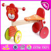 2015 Wholesale Children Baby Trike Toys, Cheap Safety Wooden Tricycle for Kids, Cute Lion Deisgn Wooden Baby Tricycle Toy W16A014