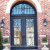 Factory Direct Exterior Wrought Iron Double Door (UID-D045)